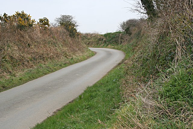 A Country Lane near Cubert