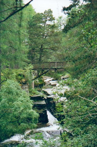 Footbridge, Linn of Quoich