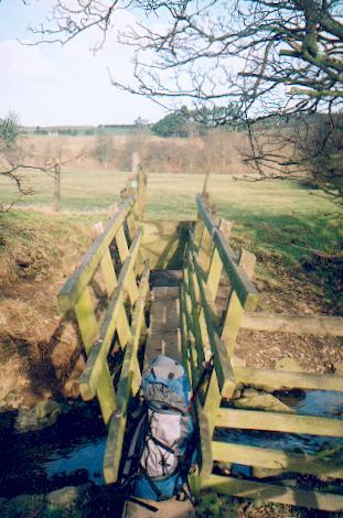 Footbridge, Red Beck Gill near Middleham.