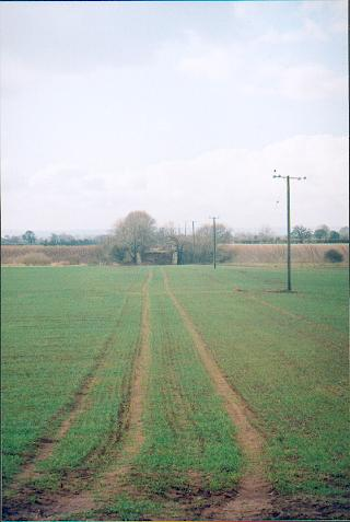Remains of old rail track near Catton.