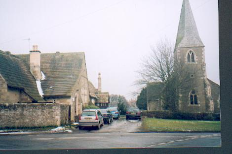 Village school and church Little Sessay.