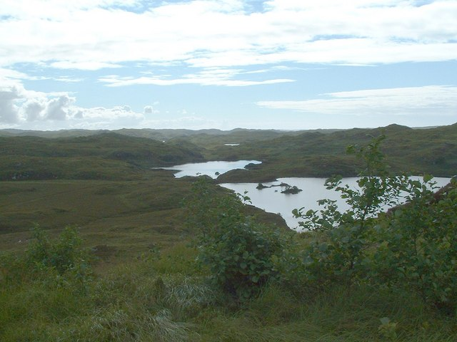 Loch an Ruighean and Loch an t-Sabhail from the north east