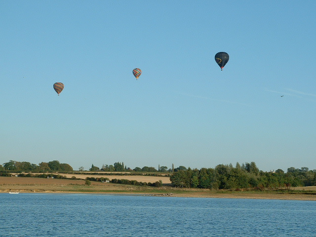 Balloons over Pitsford Reservoir