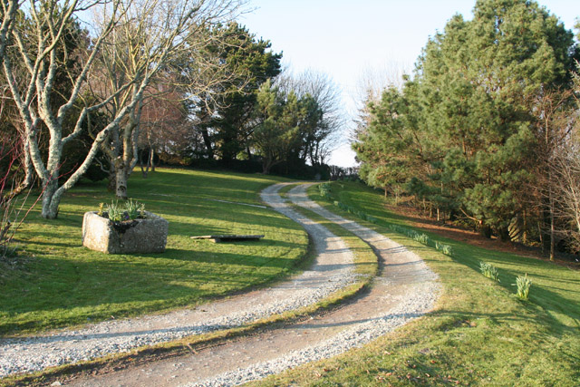 Lansallos: driveway to Blanches Windsor