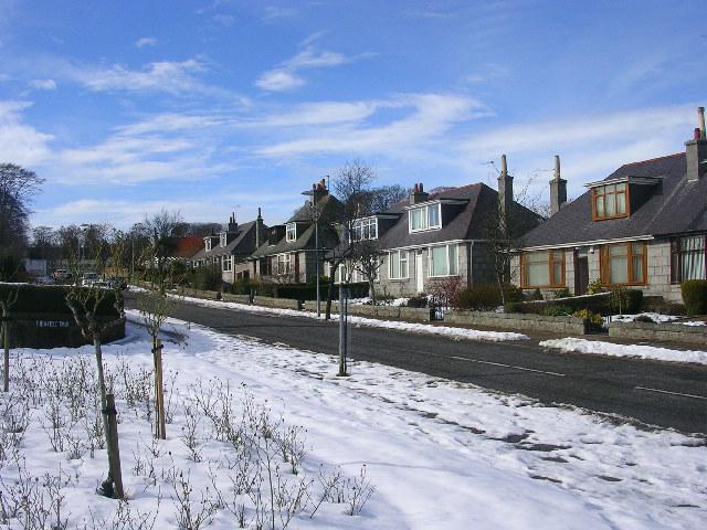 Suburban Housing in Viewfield, Aberdeen