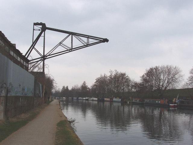 Black Crane at Oak Wharf timberyard, South Tottenham