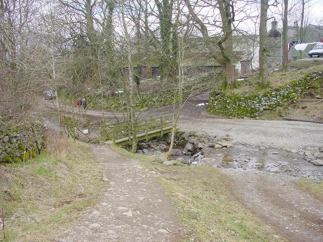 Footbridge and Ford at Rakefoot