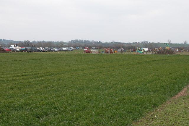Farm machinery sale at Naunton