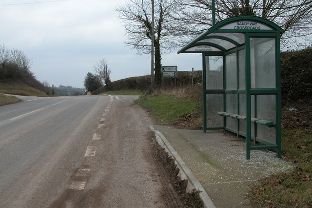 Bus shelter at Sandyway Crossroads