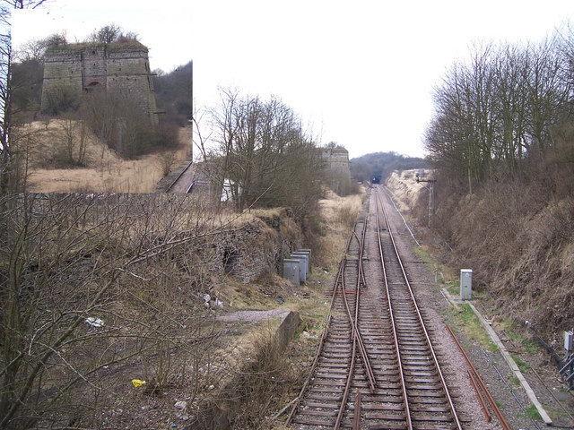 Looking towards Kirton Tunnel