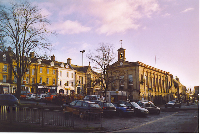 Chipping Norton, Market Place and Market Hall.