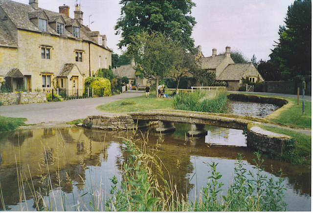 A Windrush Tributary Flowing Through Lower Slaughter.