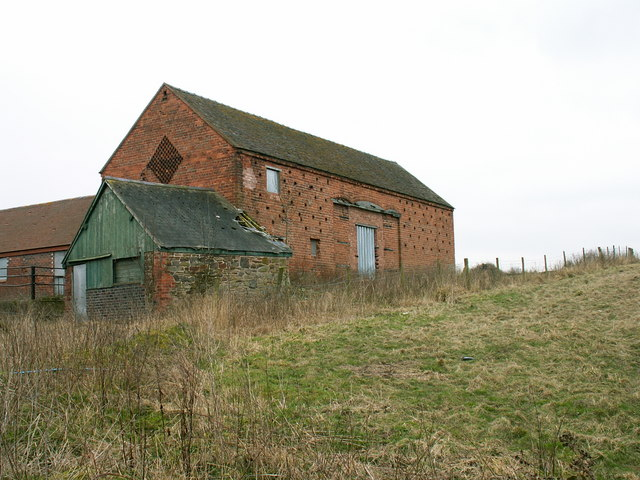 Farm buildings at Pulley