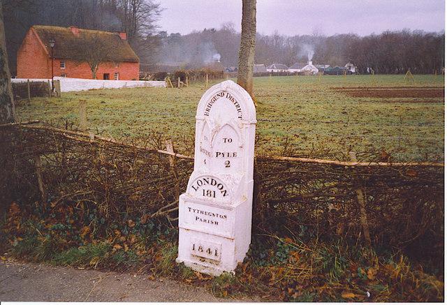 Old Milestone by Kennixton Farmhouse