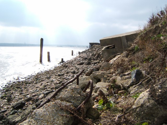 Tilting Pillbox near Tilbury