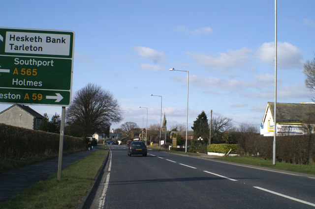 Junction of the A565 and the A59