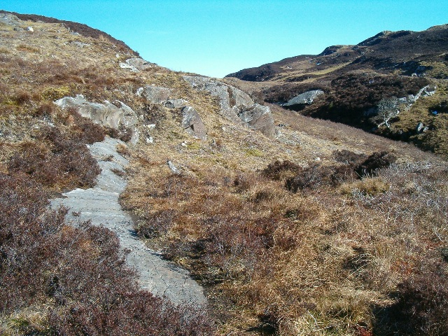 Cup-marked stone and the valley of the Allt Bealaich Ruaidh