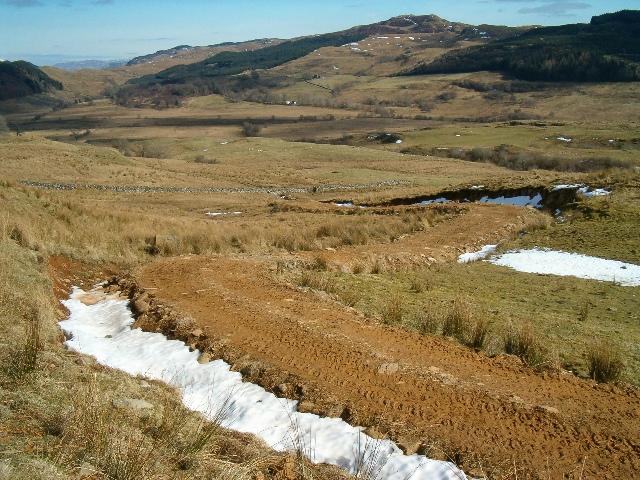 Farm track onto moorland above Stroneskar
