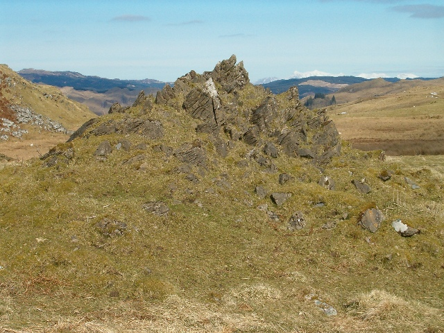 Rock formation near Clachandubh Hill