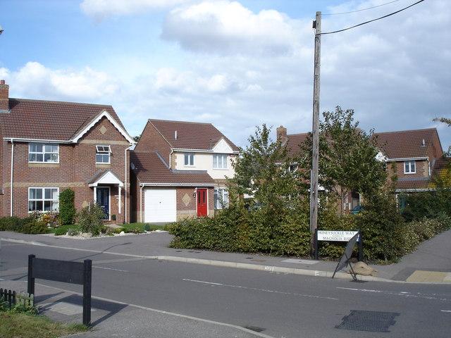 Junction of Honeysuckle Way and Broomfield Road
