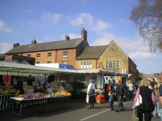 Market day in Moreton-in-Marsh