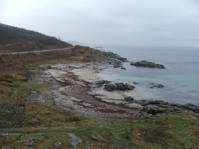 Coastline and A83.