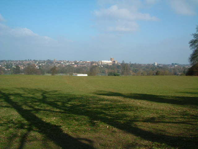 St Albans from the park