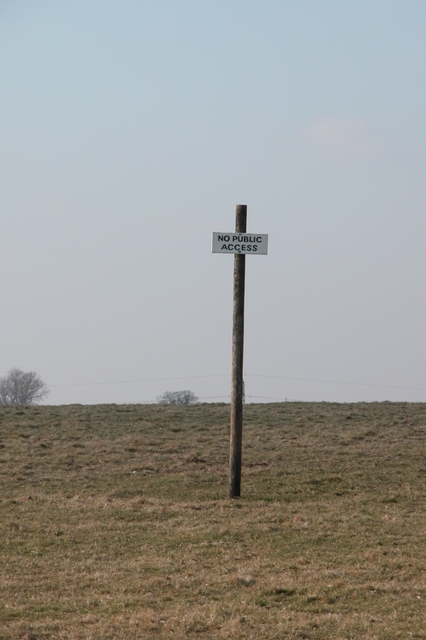 GOML sign, beside the South Downs Way.