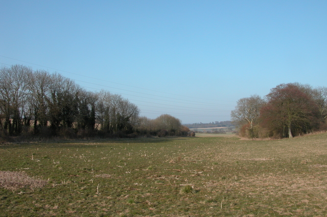 Looking North East from the end of Honey Lane.