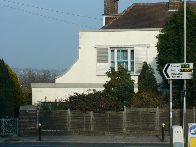 St Leonards on Sea, The Green. The top of Filsham Road.