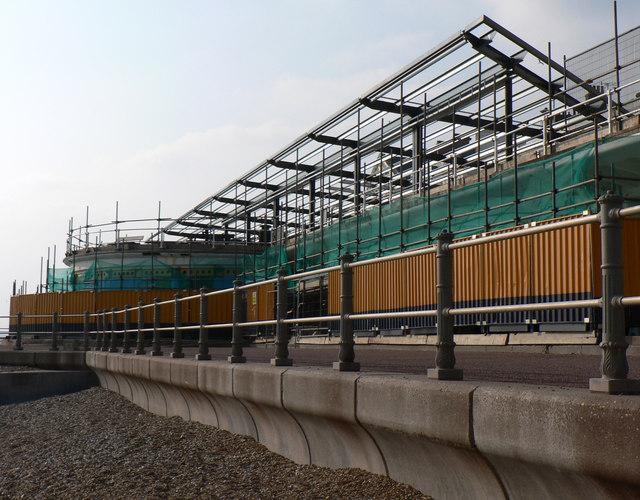 The Marina Pavilion undergoing refurbishment and extension