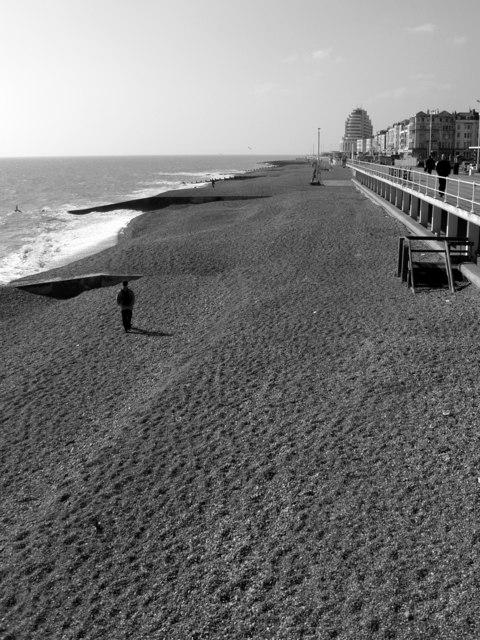 The shingle beach, St Leonards on sea