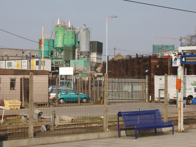 Concrete premix plant, Acton goods yard