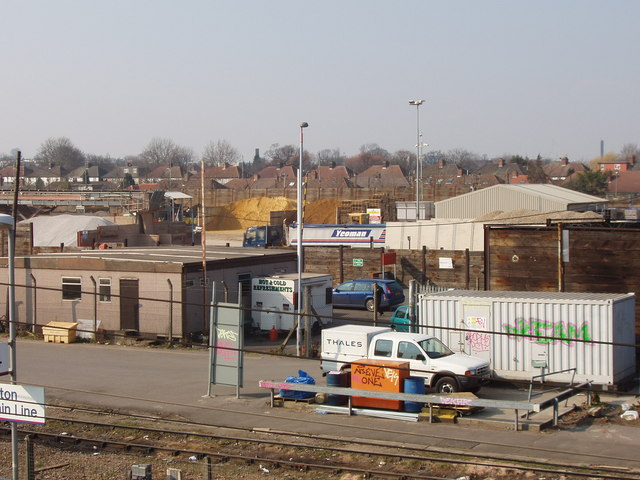 Aggregates at Acton goods yard