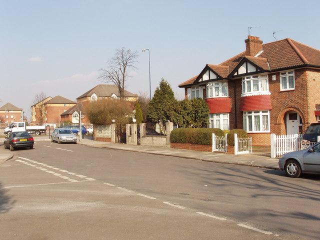 St Dunstan's Avenue, Acton, north end.