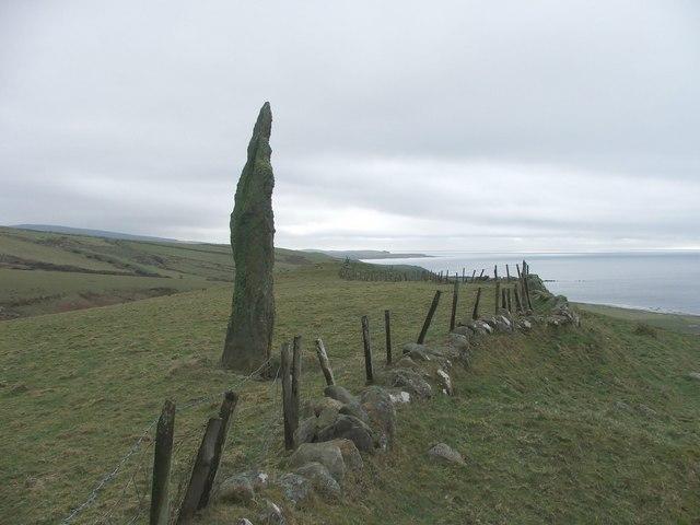Standing stone at Beacharr.
