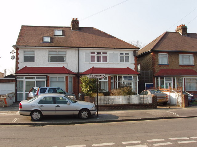 Houses on west side of The Approach, North Acton