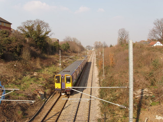 North London line railway from Western Avenue, Acton