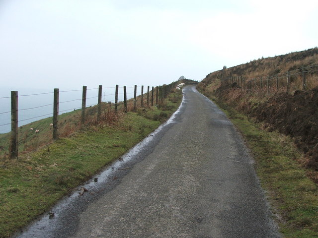 The road to the Mull of Kintyre.