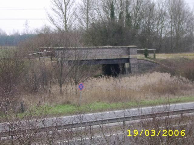 Telford Line Crossing The Shrewsbury Canal