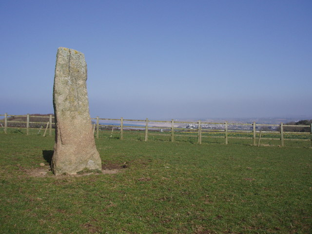 Standing stone on St Michael's Way