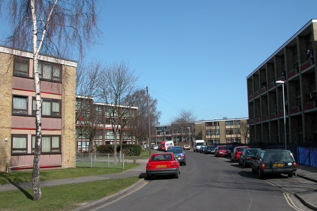 Flats on Hawthorn Crescent, Cosham