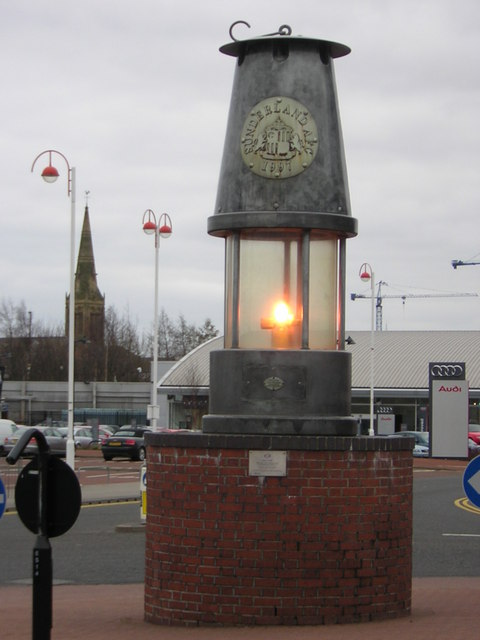 Miner's lamp, Stadium of Light, Sunderland