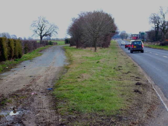 Old and new - the A684 east of Leeming