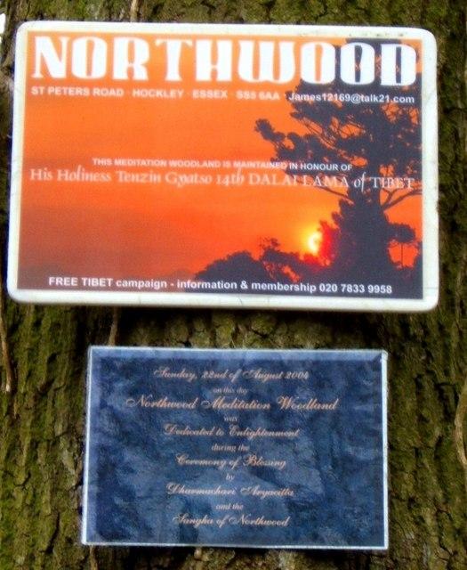 Northwood Dedication Plaque