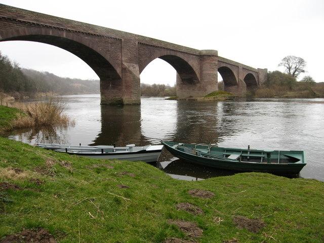 Bridge over River Tweed at Norham