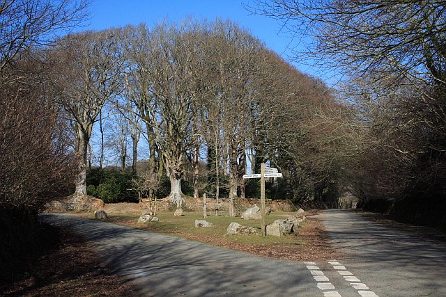 Country lane junction