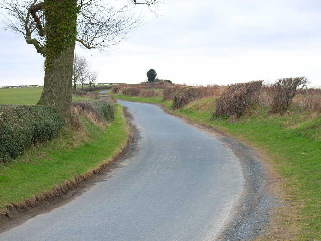 Road between Low Hutton and Hutton Hill, near Finghall