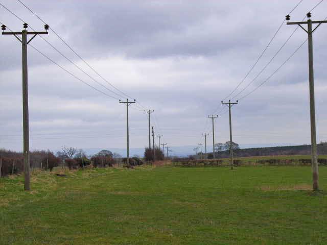 Powerlines, near Cragg Farm, Constable Burton