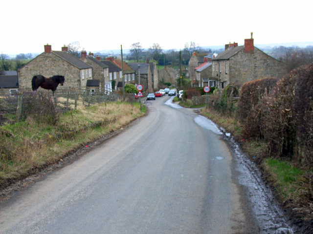 Top end of Hunton village